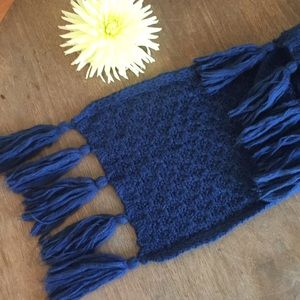 Nordstrom scarf blue knit